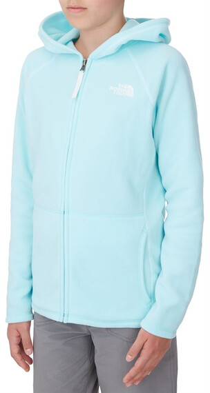 The North Face Girls Glacier Full Zip Hoodie Bonnie Blue
